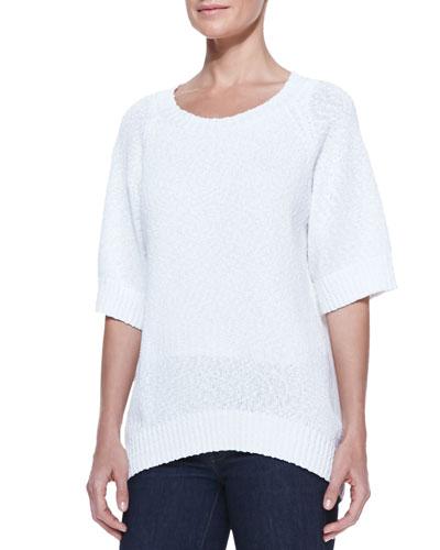 Michael Kors Rib-Trim Boucle Sweater