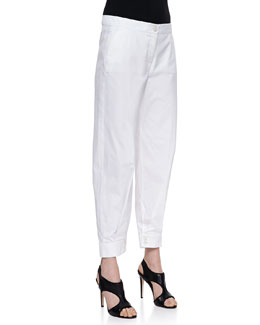Missoni Poplin Button-Cuff Ankle Pants