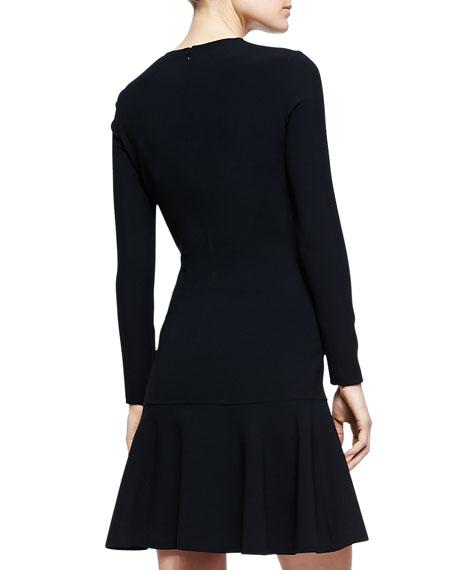 Flare-Hem Knit Dress