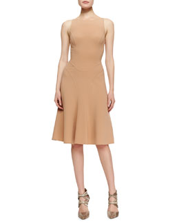 Michael Kors  Seamed Stretch-Wool Dress