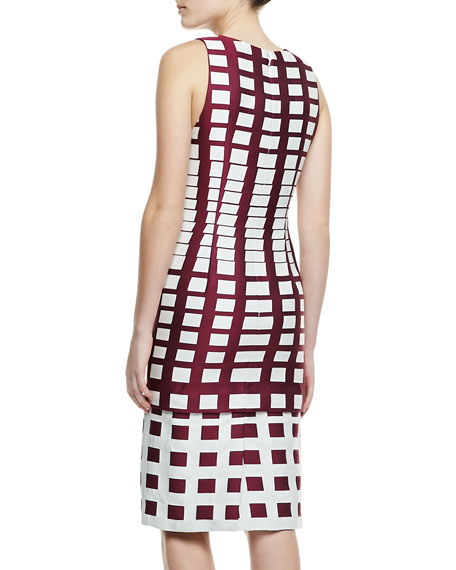 Gradual Squares Jacquard Dress