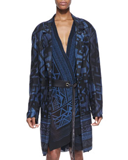 Donna Karan Tribal Printed Topper, Old Indigo