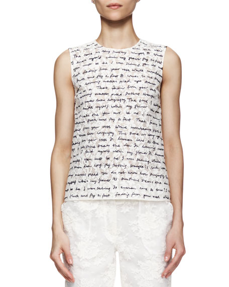 Naomi Handwritten Love Poem Script Lace Shell