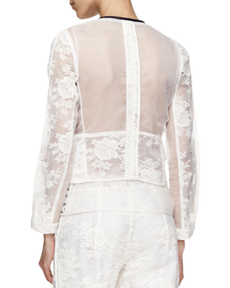 Bonite Boxa Organza Lace Jacket