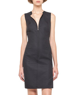 Akris Reversible Zip-Front Sheath Dress