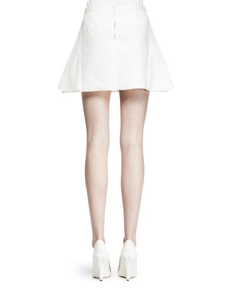 Flared Pocket Miniskirt