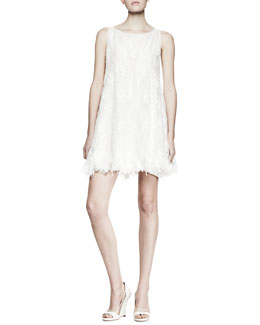 Nina Ricci Sleeveless Lace Babydoll Dress