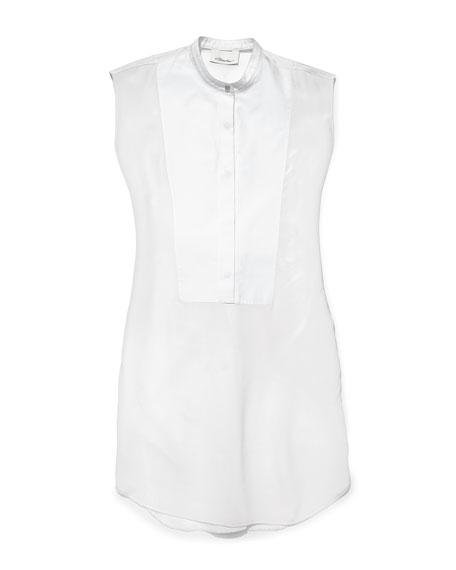 Cap-Sleeve Bib Shirtdress