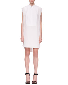 3.1 Phillip Lim Cap-Sleeve Bib Shirtdress