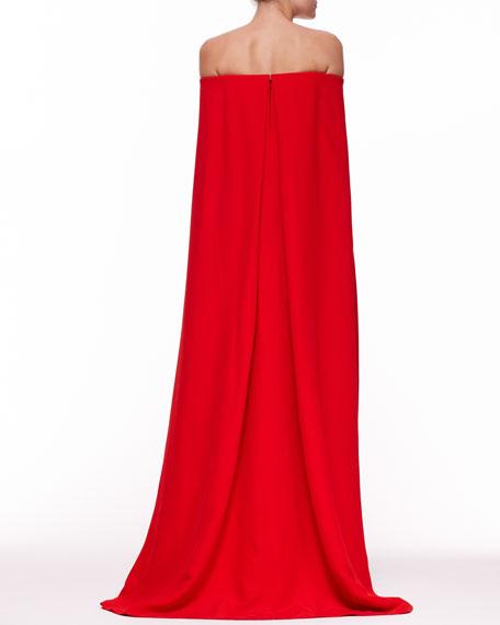 Audrey Cape Evening Gown