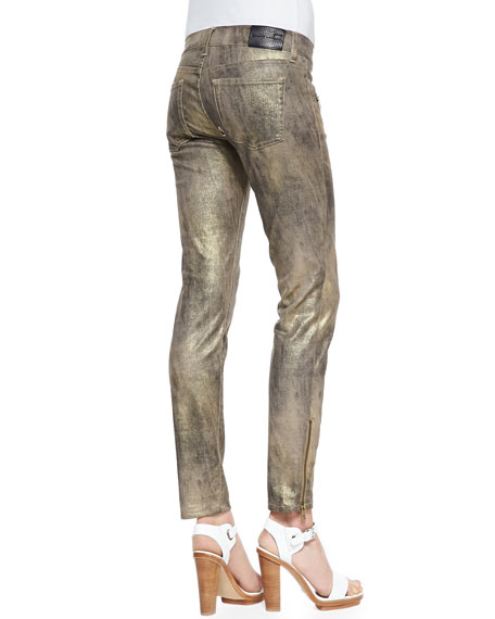 400 Blackened Gold Skinny Pants