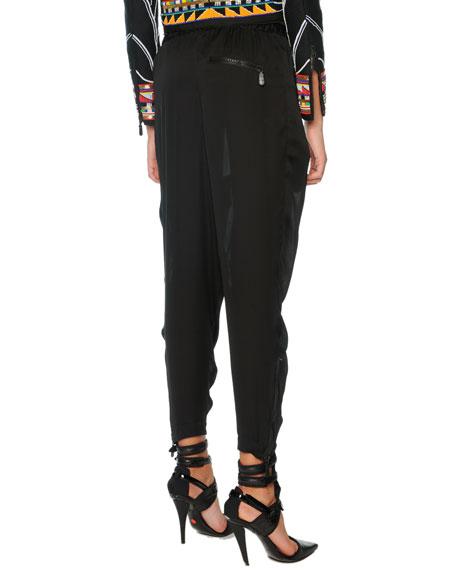 Silk Harem Pants, Black