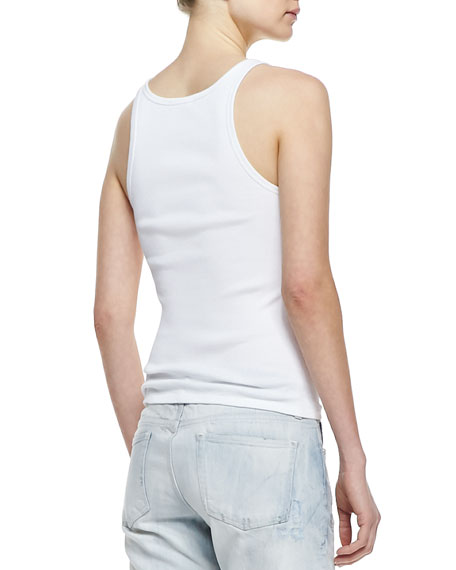 Teaser Cotton Tank Top, White