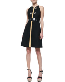 Proenza Schouler Sleeveless Dress with Turn-Locks