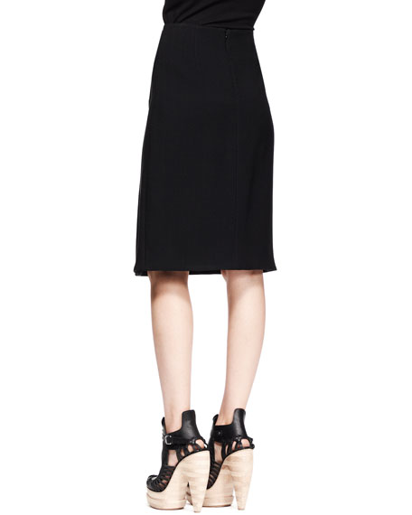 Turn-Lock Pencil Skirt