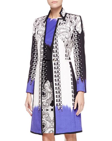 Dip-Dye Matelasse Paisley Coat