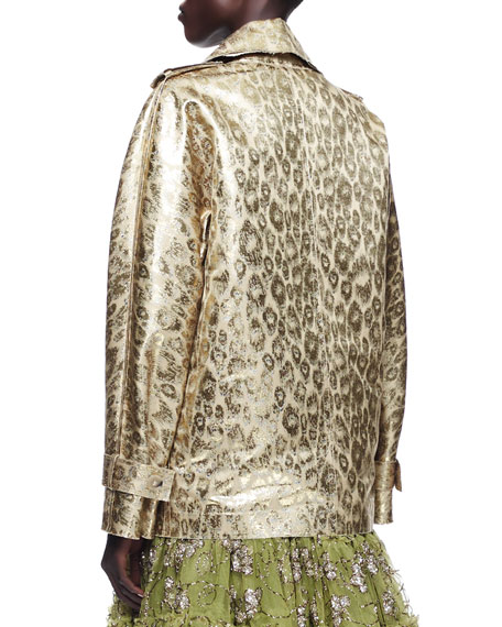 Metallic Leopard Jacket, Gold