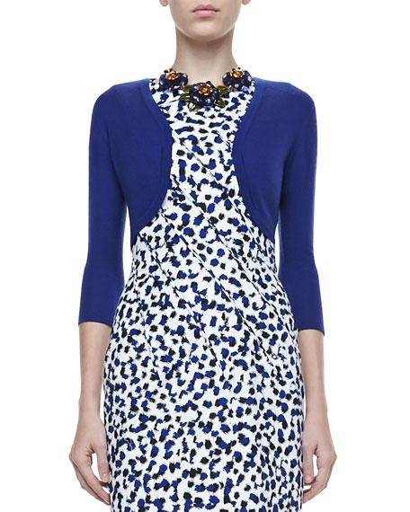 Cashmere-Silk Shrug, Lapis Blue