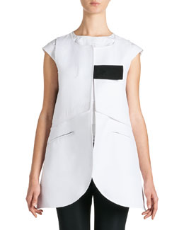Jil Sander Long Sleeveless Tab Jacket