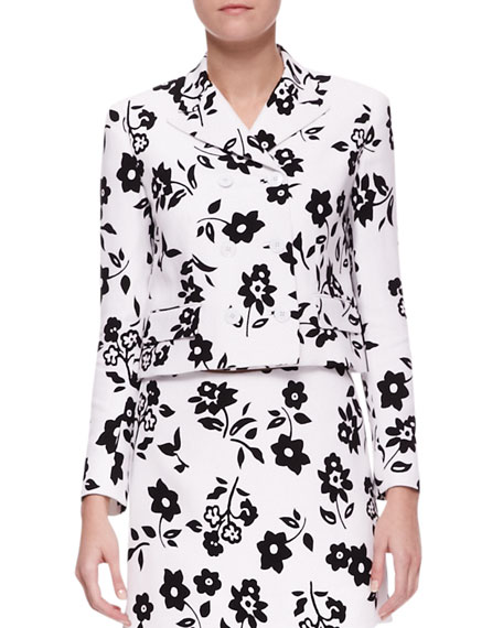 Carolina Mod Floral-Print Jacket