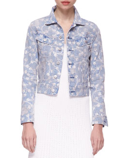 Ralph Lauren Black Label Mason Printed Denim Trucker Jacket