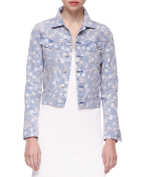 Mason Printed Denim Trucker Jacket