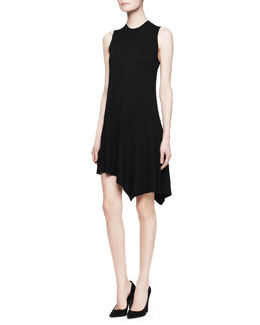 Alexander Wang Sleeveless Cashmere-Silk Dress, Vinyl Black