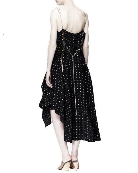 Metallic Herringbone Dress, Black Onyx