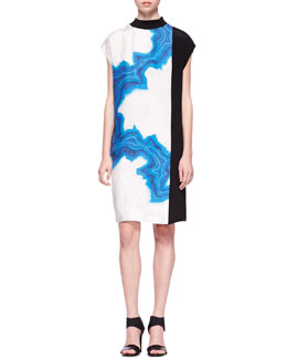 3.1 Phillip Lim Shifted Geode Colorblock Dress