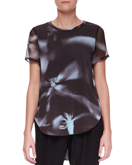 3.1 Phillip Lim Printed Split-Hem T-Shirt