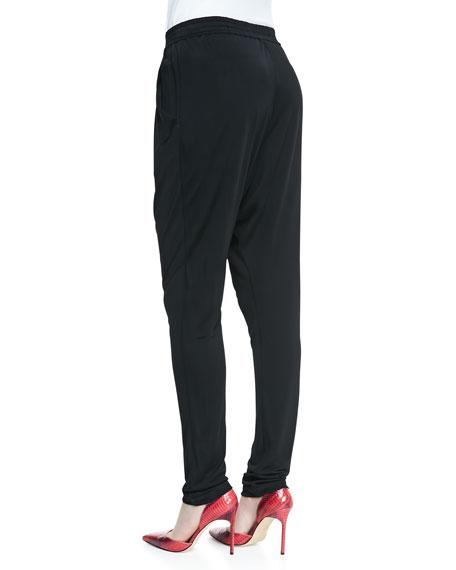 Mixed Fluid Jersey/Mesh Pants