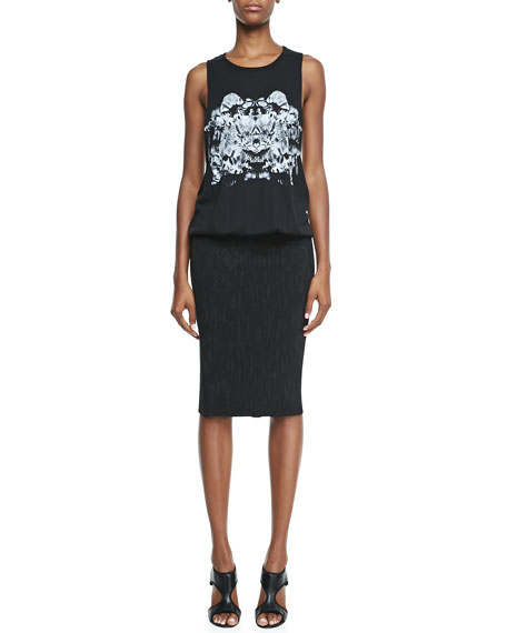 Faith Connexion Printed Tank & Pencil Skirt Dress,