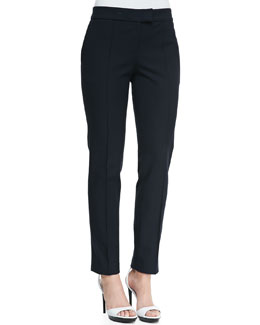 Burberry London Straight-Leg Ankle Pants, Indigo