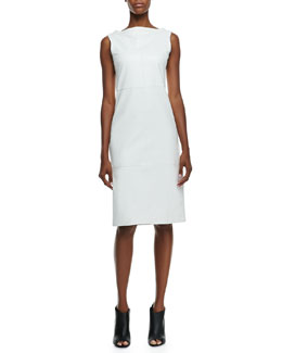 Burberry London Leather Sleeveless Bateau Dress