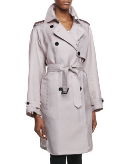 Burberry London Gun-Flap Detail Three-Quarter Trench Coat