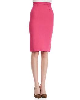 Roland Mouret High-Waist Wool Crepe Pencil Skirt, Pink