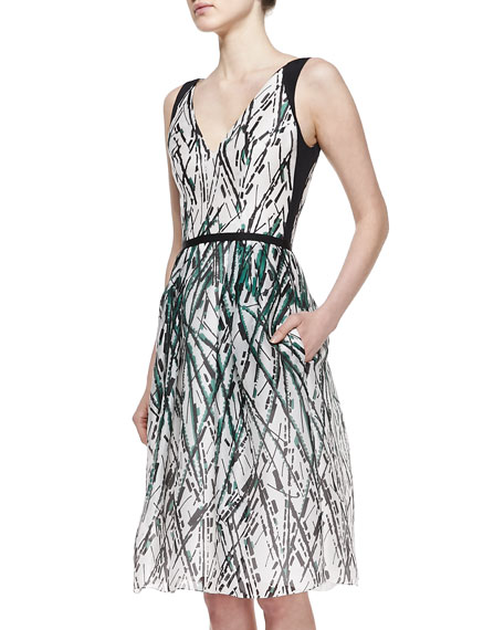Paint-Splatter Pocket Silk Dress