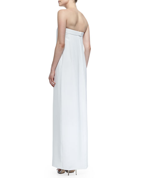 Strapless Center-Slit Maxi Dress