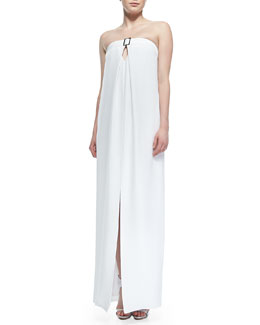 Cushnie et Ochs Strapless Center-Slit Maxi Dress