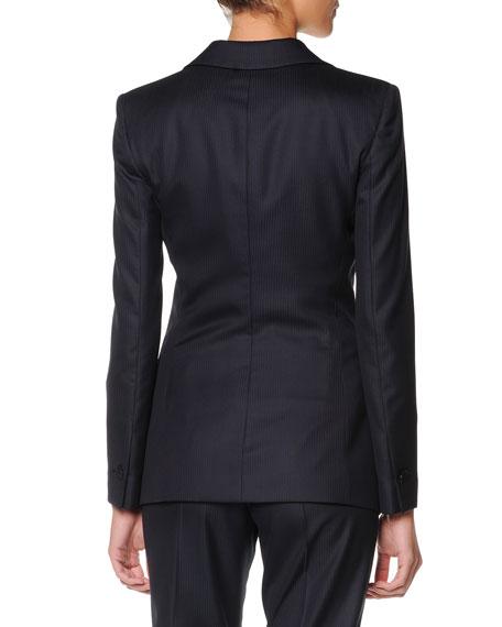 One-Button Wool-Silk Jacket