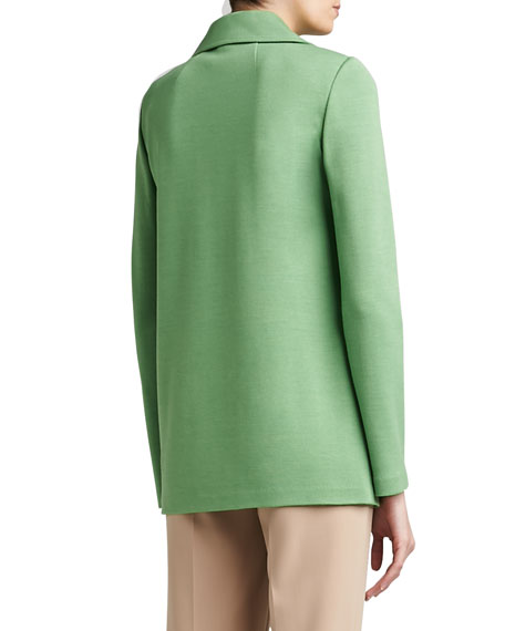 Milano Knit Full Cut Topper with Rounded Collar and Pockets