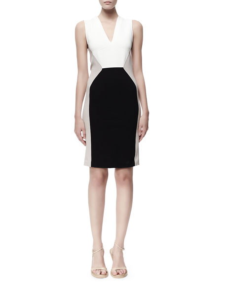 Stella McCartney Open-Back Sleeveless Colorblock Dress,