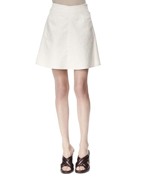 Stella McCartney Letizia Cotton Pique Skirt, White