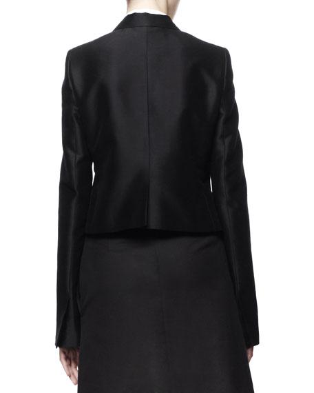 Farrah Cropped Tuxedo Jacket, Black