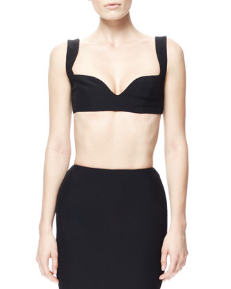 Crepe Bra Top, Black