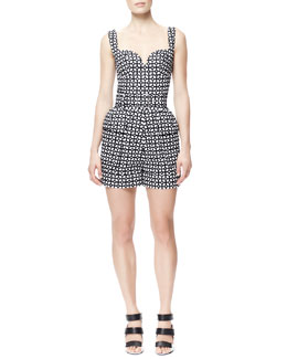 Alexander McQueen Short Laser-Cut Cotton Jumpsuit