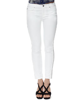Alexander McQueen Zipper-Side Cropped Jeans