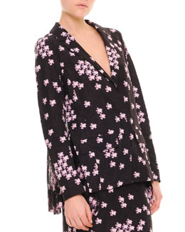 Marni Cherry Blossom Pleat-Back Jacket