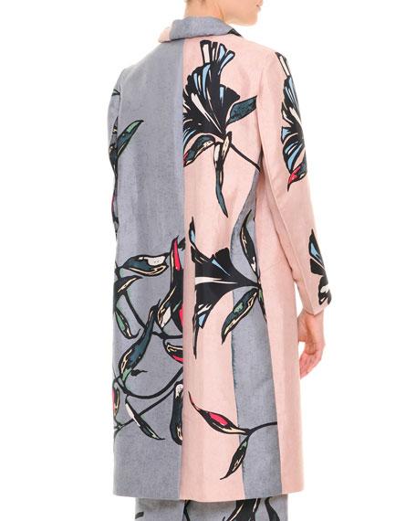 Large-Floral Long Coat
