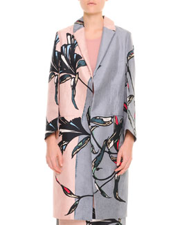 Marni Large-Floral Long Coat